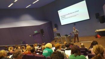 Pic of Prof Iain Martin speaking